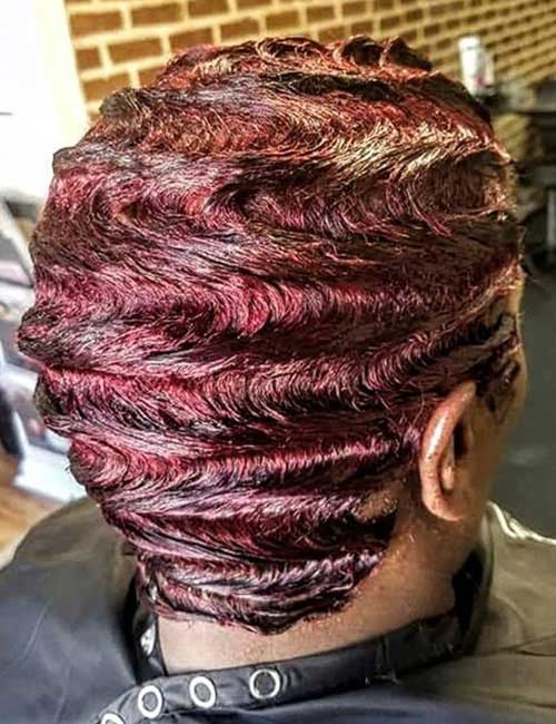 Wine Finger Waves