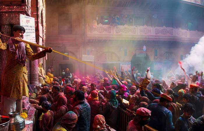 3. The Experience of the Color Festival - The Holidays of the Living in Vrndavan