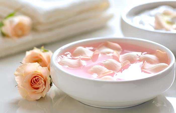 5. Pink water mask and glycerin (to tighten your skin)