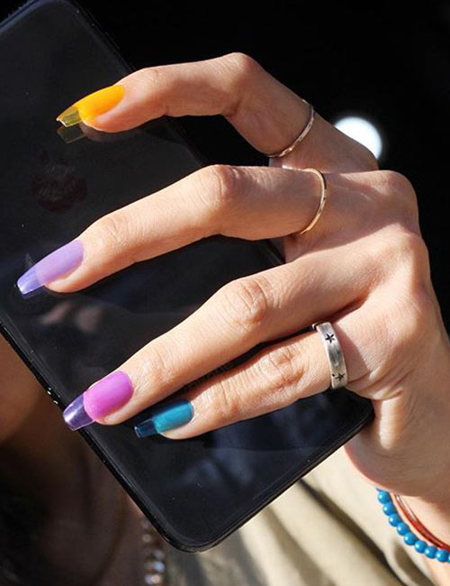 Nail_unistella </a> </strong>  / <strong> There are several options to choose from; You will surely be surprised to see the type of colors you can dress on your nails. This appearance, however, is called PVC because it is made of plastic. It&#39;s an interesting take on the jelly nails, do not you think? </p> <h2>  2. Vibgyor &#8221; width=&#8221;500&#8243; height=&#8221;650&#8243; /></a></p> <p id=