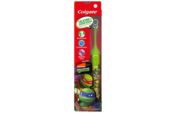 Best For Ages 7 And Up – Colgate Kids Teenage Mutant Ninja Turtles Interactive Talking Toothbrush