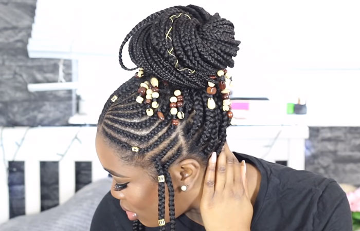 Big Fulani Braided Bun