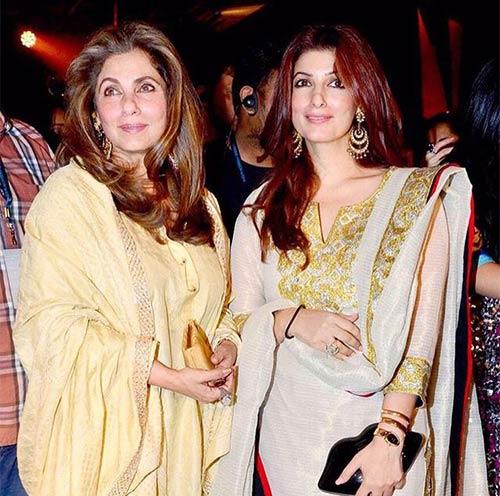 Dimple Kapadia and Twinkle Khanna
