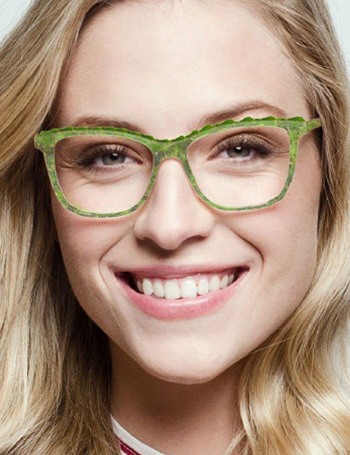 For Your Bold, Brightly Colored Frames, Go For A Neutral Lip Color