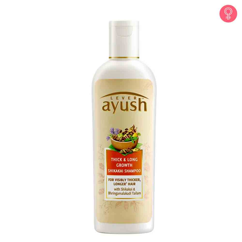 Lever Ayush Thick And Long Growth Shikakai Shampoo