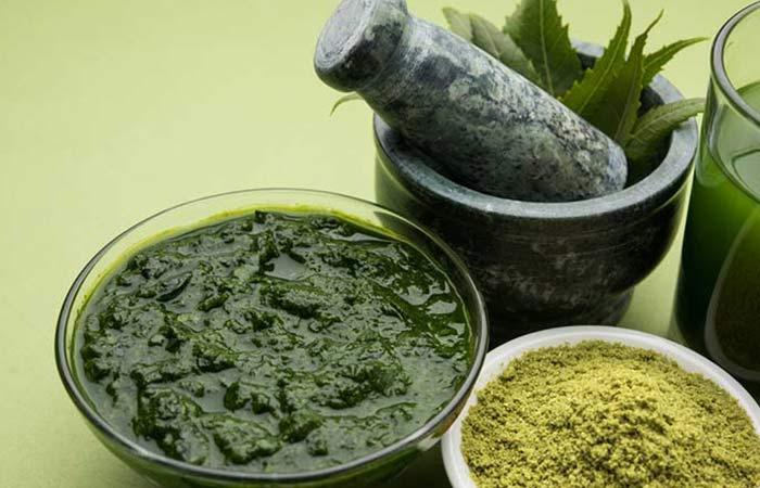 Neem, curd and gram flour for acne scars