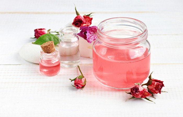 Rose Water And Glycerin Sheet Mask (To Tighten Your Skin)