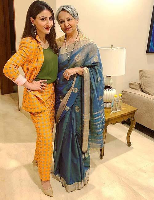 Sharmila Tagore and Socha Ali Khan <a href=