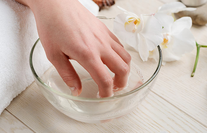 Soak your nails and hands