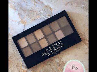 Maybelline New York The Nudes Eyeshadow Palette -Maybelline New York nudes eyeshadow palette-By thetyro