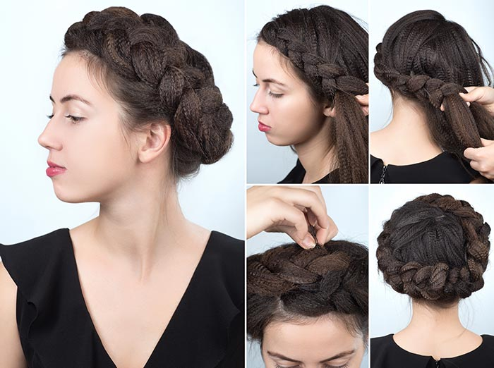 14. French Braid Wreath