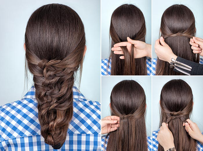 16. Goddess French Braid