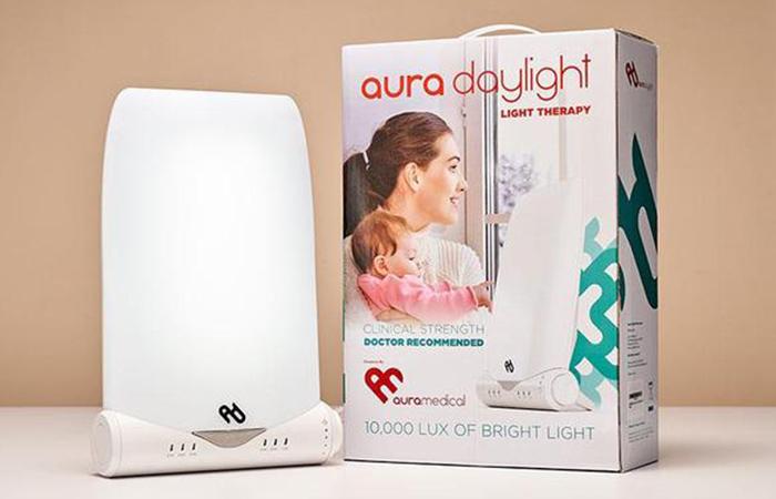 7. Aura Daylight Light Therapy Lamp