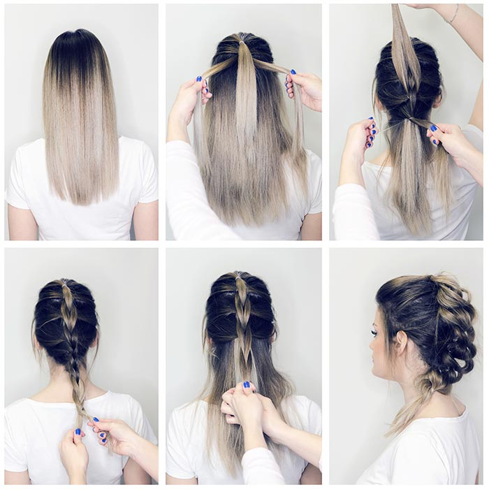 8. Faux French Braid