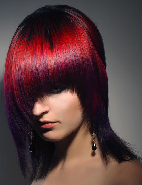 9. Bright Red With Purple Tips