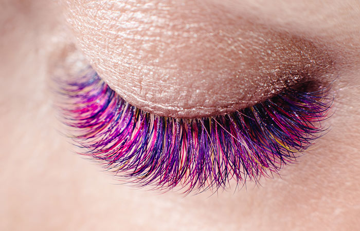 9. Colorful Lashes