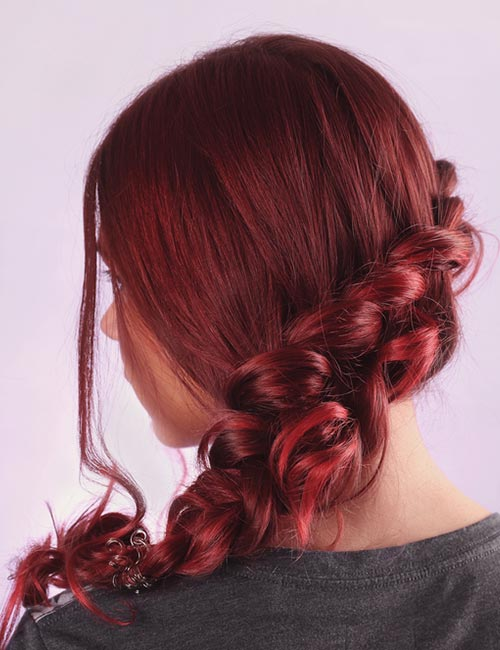 Bright Red Tips With Maroon