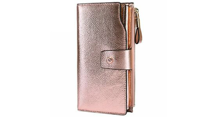 Champagne Gold Leather Wallet