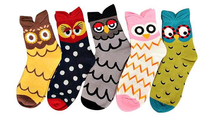 Cute Owl Socks