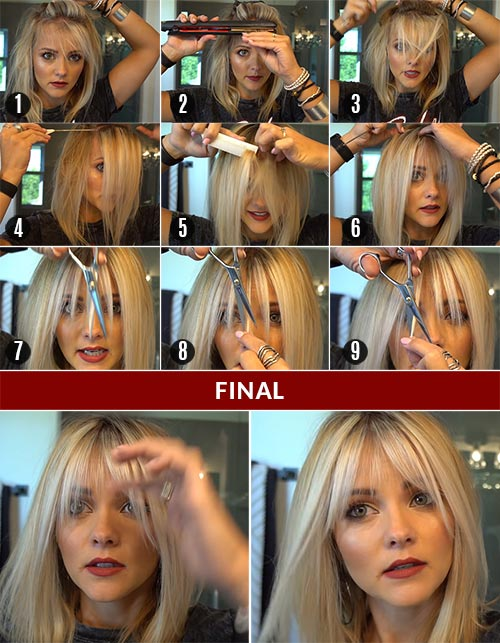 How To Cut Wispy Bangs – Step-By-Step Tutorial