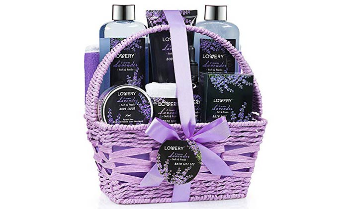 Lavender And Jasmine Spa Gift Basket