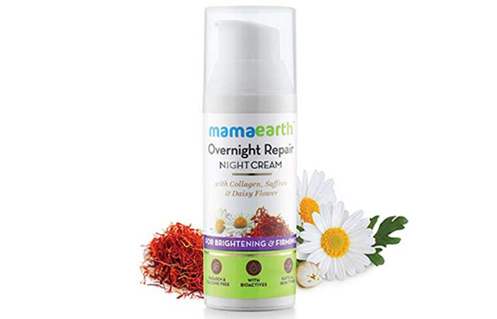 Mamaearth Overnight Repair Face Cream for dry skin in hindi