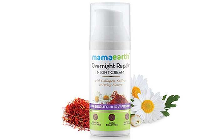 इसमें मौजूद गुलबहार फूल and केसर के अर्क आपकी त्वचा को गहराई से चमक प्रदान करते हैं. यह क्रीम आपकी त्वचा को बेहतर बनाने का काम करती है, जिससे त्वचा कोमल हो जाती है. इस नाइट क्रीम में शीया बटर, जैतून तेल और बादाम तेल भी है, जो आपकी त्वचा को मॉइस्चराइज रखने में मदद करती है. यह न सिर्फ त्वचा को मॉइस्चराइज करती है, बल्कि एजिंग के स्पॉट यानी दाग-धब्बों को भी कम करती है. </p> <h5> गुण: </h5> <ul> <li> त्वचा को मॉइस्चराइज करती है. </li> <li> त्वचा को एक अच्छी चमक देती है. [19659009] इसमें प्राकृतिक तत्व होते हैं. </li> <li> एसएलएस और पैराबेन फ्री है. </li> <li> एलर्जी का खतरा न के बराबर है. </li> <li> सभी प्रकार की त्वचा के लिए उपयुक्त है. </li> <li> त्वचा में कसाव लाता है और त्वचा को मुलायम बनाता है. </li> </ul> <h5> अवगुण </h5> <ul> <li> यह क्र </li> </ul> <h5> रेटिंग </h5> <p> 4.8 / 5 </p> <p> <strong> <a href=