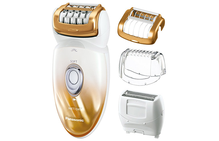 Panasonic WetDry Shaver and Epilator with Four Attachments and Travel Pouch ES-ED50-N