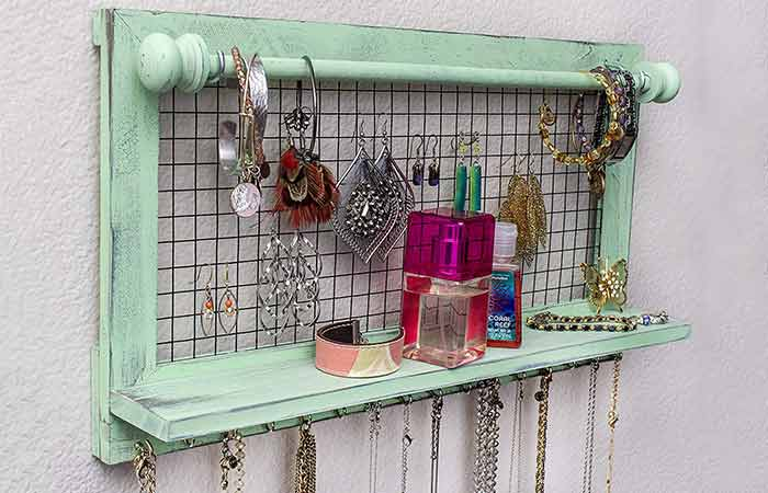 Shabby Chic Jewelry Organizer - Gift Ideas For Women