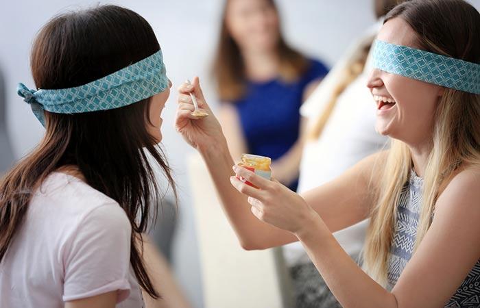 1. Blindfolded Food Eating Challenge