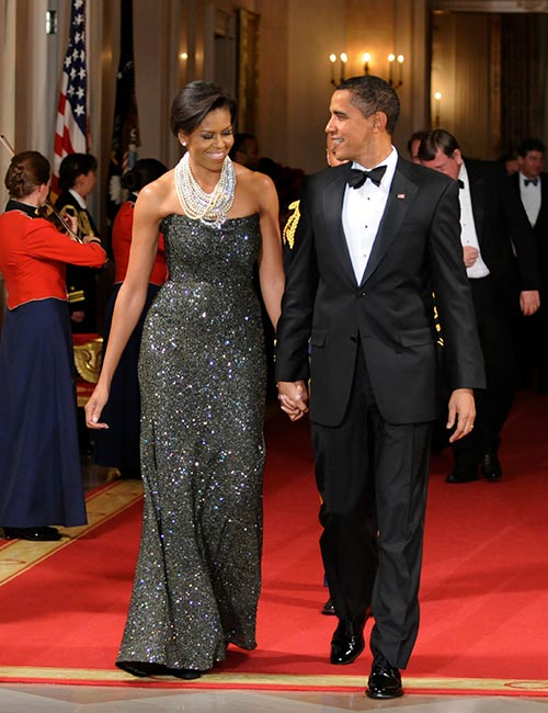 12. Michelle Obama In A Black Sequined Gown