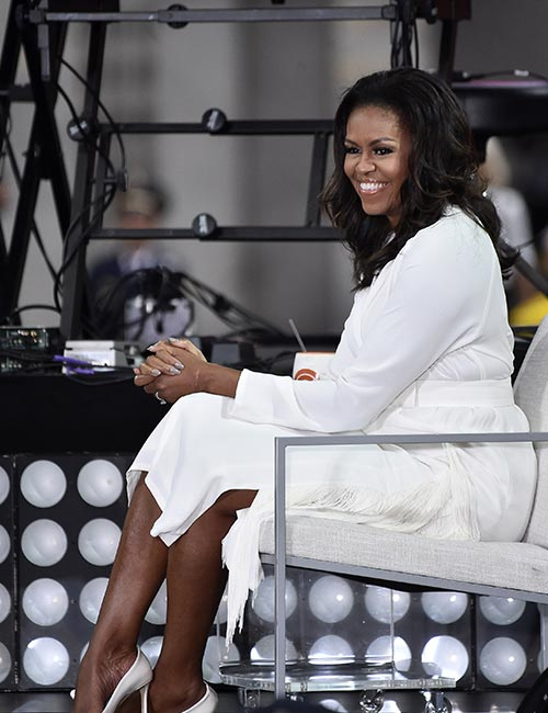13. Michelle Obama In An All-White Dress