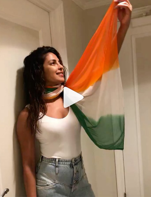 2. Inside </strong></p> </div> <p>  Priest Chopra Jonas, the international icon of Bollywood, was transferred to carry a scarf around a tricolor. She wore the scarf with a white top with no sleeves and blue jeans, and she looked very proud to pull with a tricolor. While many people were angry at her online and commented that she was insulting our national flag, her fans were defending her, pointing out that there was no shawl of Ashoka Chakrakon. They also said that Priyanka makes our country proud by working in Hollywood. </p> <h2>  3. Ankita Lohande </h2> <div id=