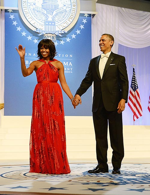 4. Michelle Obama's Red Ball Gown