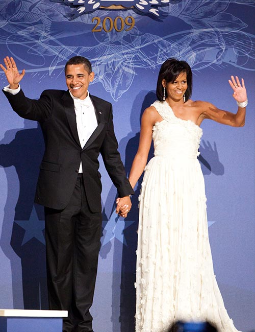 5. Michelle Obama's White Inaugural Ball Gown