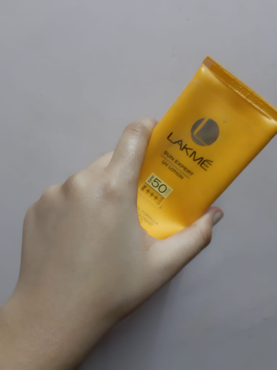 Lakme Sun Expert UV Lotion SPF 50 PA+++-Best sunscreen for oily skin-By sobia_saman-1