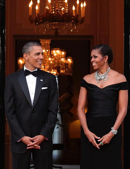 8. Michelle Obama In A Black Gown