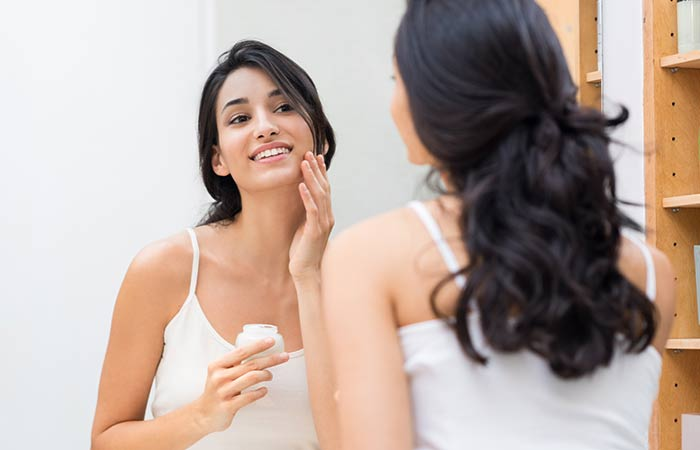 Shutterstock </p> </div> <p> Clove oil is good for your skin which is why it is infused in soaps, perfumes, and lotions. Eugenol in cloves keeps your skin away from bacterial invasion and acne. The compound also soothes your skin and helps it look fresher. If you do not have a good skin product with clove oil infused into it, you can make it on your own. All you have to do is mix some of your regular moisturizer with a few drops of clove oil. Clove oil is also known to fight against signs of aging like wrinkles and dark spots. Apply a few drops of clove oil on your face twice a day and rinse it off to notice the difference in youthfulness of your skin in just days. Clove oil also helps in gently exfoliating your skin so that the glowing and healthy layer of your skin does not get covered by dead cells (<a href=