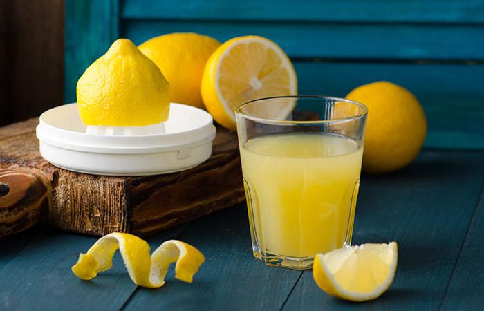 Hair care with lemon juice