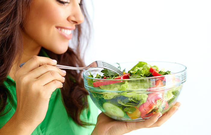 How to use salad in Hindi