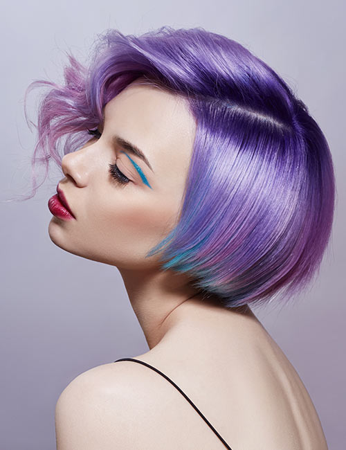 Light Purple With Blue Highlights