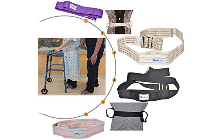 MABUA Physical Therapy Gait Belt With Metal Buckle