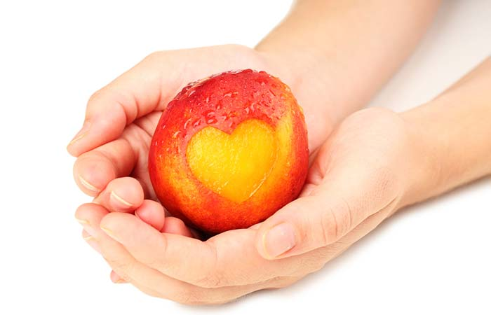 Peach to Make the heart healthy in hindi