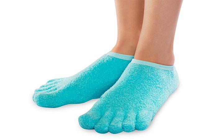 NatraCure 5 Toe Gel Moisturizing Socks