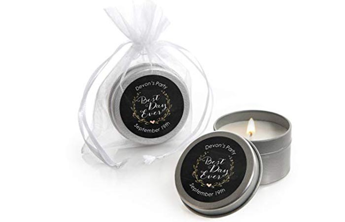 Personalized Candle Tins