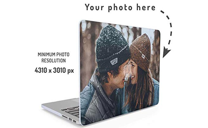 Personalized laptop case with a photo