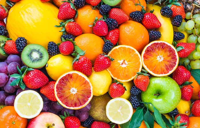 Place fruits, vegetables and cereal grains in the diet