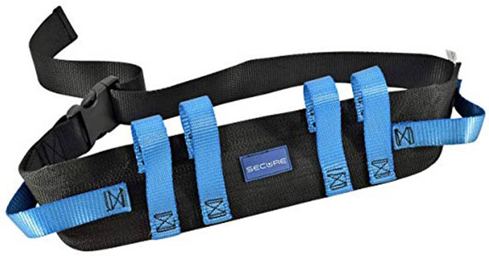 Secure Transfer And Walking Gait Belt With 6 Caregiver Hand Grips
