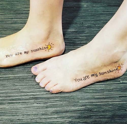 You Are My Sunshine, My Only Sunshine Tattoo