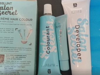 BBlunt Salon Secret High Shine Creme Hair Colour, Honey Light Golden Brown pic 2-Average product-By dolly_nair
